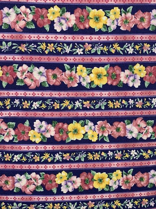 Bright Floral Stripes