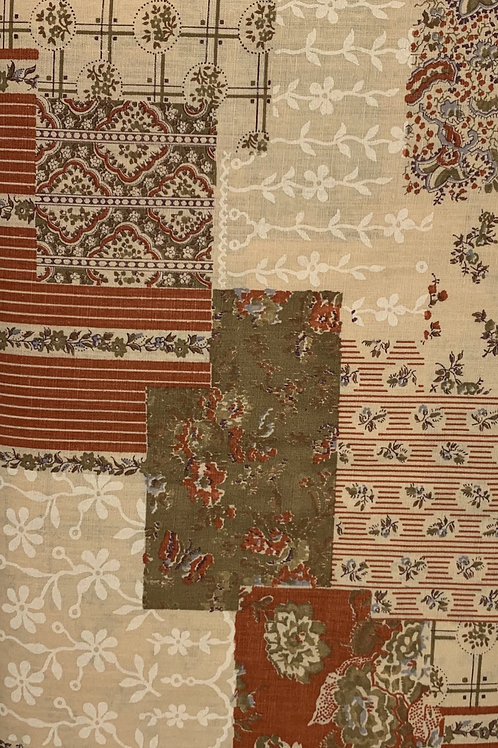 Warm Toned Patchwork Patterned Quilt