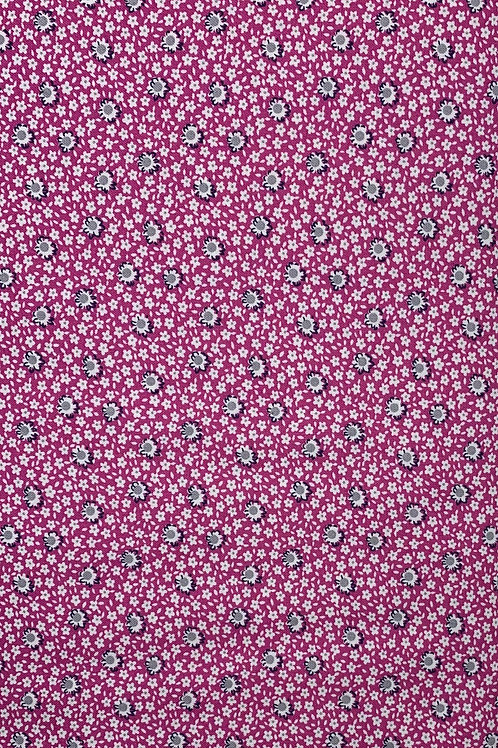 White Flowers on bright pink fabric