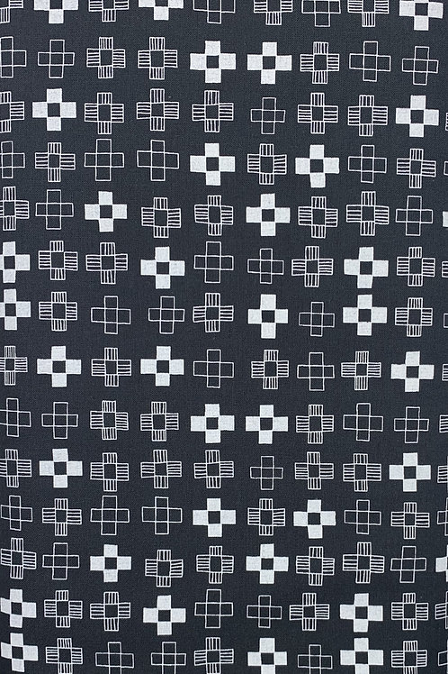 Black and White X Pattern