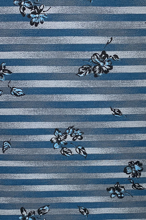 Blue Flowers with Blue Stripes
