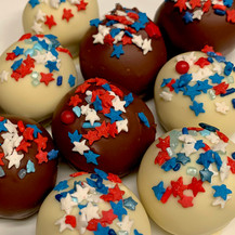 Election/4th of July cake ball truffles