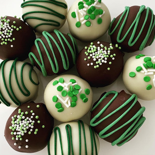 St. Patty's day cake ball truffles and cookie dough bites