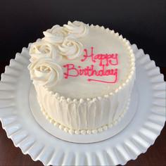 Buttercream rosette birthday cake