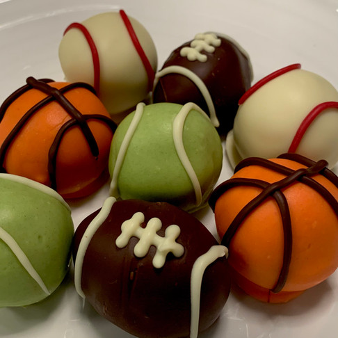 Sports balls - cake truffle or cookie dough bite