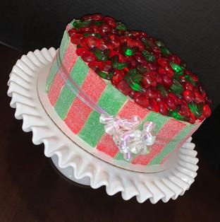 Holiday candy bowl cake