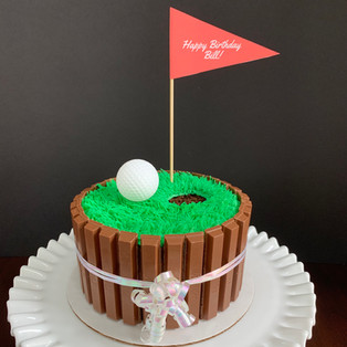Small hole-in-one cake