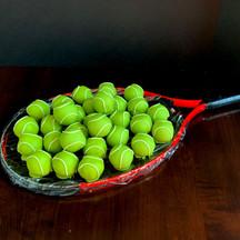 Tennis ball cake ball truffles and chocolate chip cookie dough bites