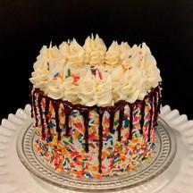Sprinkle dip cake