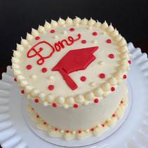 """DONE"" Graduation cake"