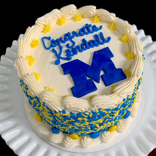 University of Michigan college commit cake