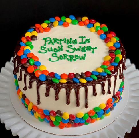 M&M drip cake