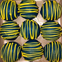 Cake ball truffles in school colors