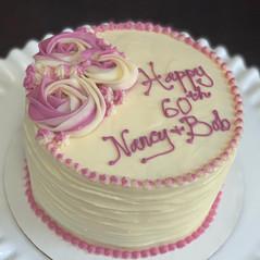 Rosette anniversary carrot cake