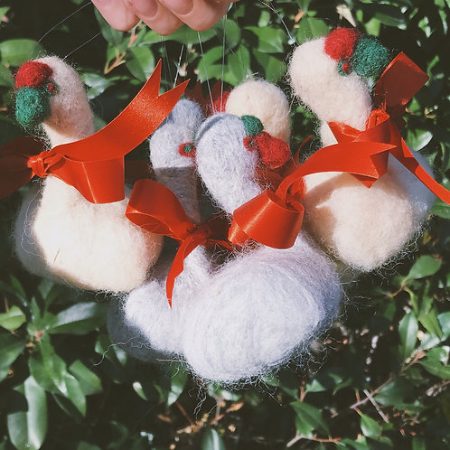 Swan and Goose Ornaments