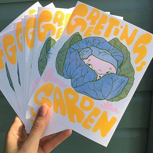 Greetings from the Garden Postcard