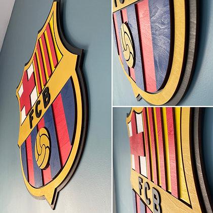 FC Barcelona 3D Crest Wooden Wall Hanging (Version 2)
