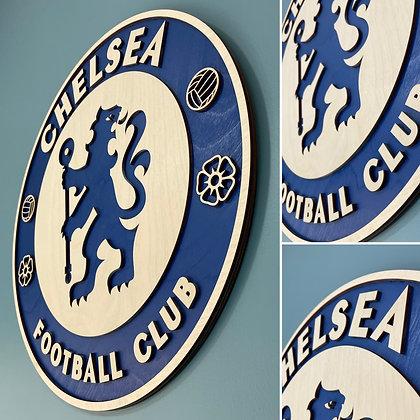 Chelsea - 3D Wooden Crest