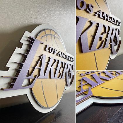 Los Angeles Lakers 3D Wooden Crest