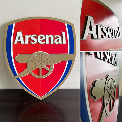 Arsenal FC 3D Crest Wooden Wall Hanging