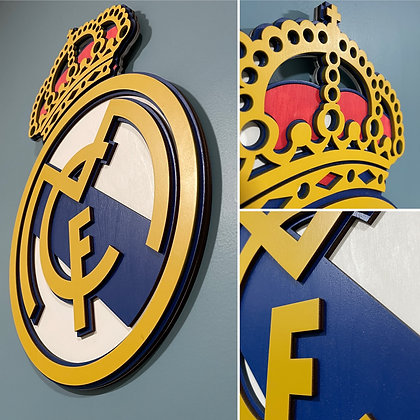 Real Madrid 3D Crest Wooden Wall hanging (Colour)