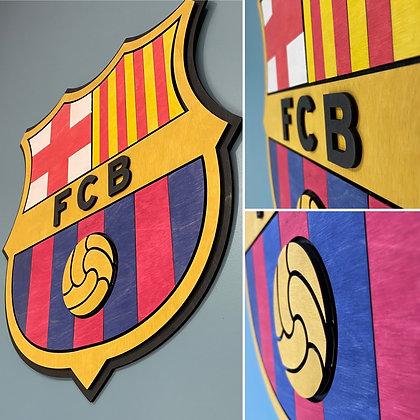 FC Barcelona 3D Crest Wooden Wall Hanging (Version 1)