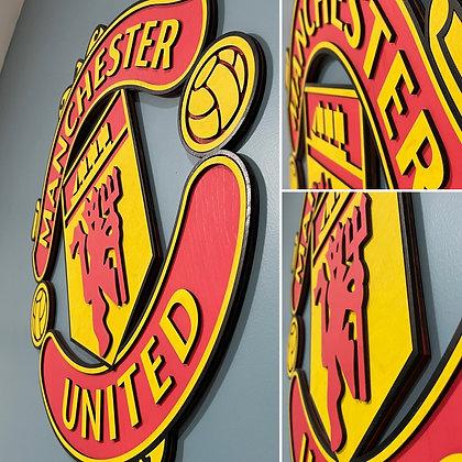 Manchester United 3D Crest (All Colour)