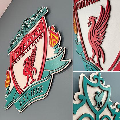 Liverpool - 3D Crest (2 feet) (Multi Colour)