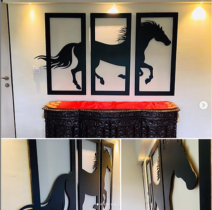 3D 3 Frame Horse