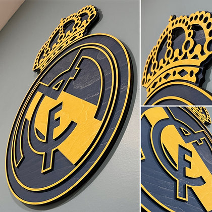Real Madrid 3D Crest Wooden Wall hanging (AWAY)