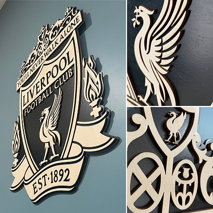 Liverpool FC 3D Crest Wooden Wall Hanging