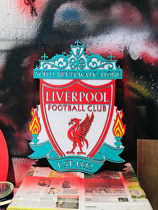 Liverpool - 3D Crest (2 feet) (Multi Colour)