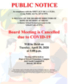 4-28-2020 Regular Board Meeting Cancelle