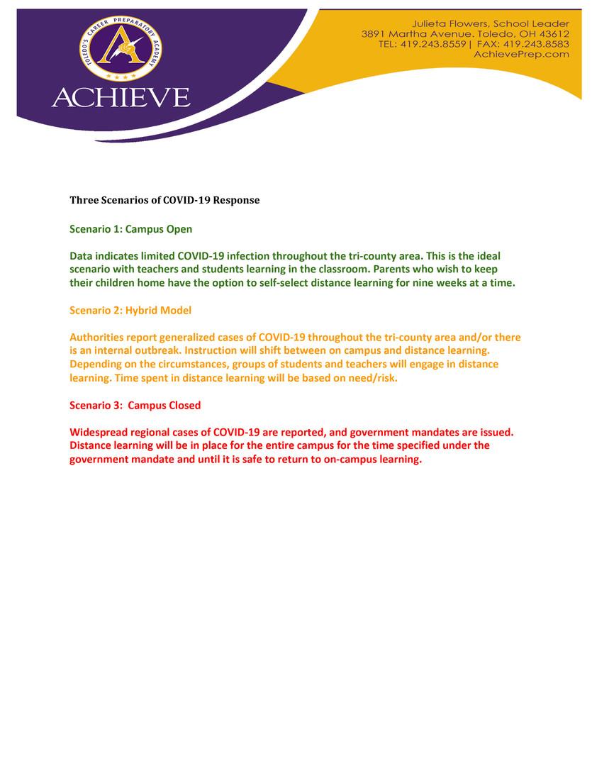 Parent letter informing students of grad