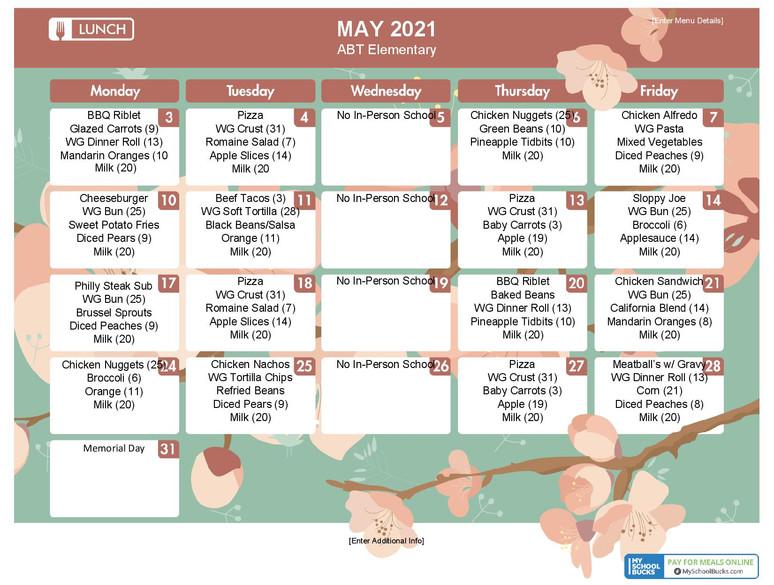 ABT ELEM Lunch May 21