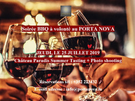 SOIREE BBQ CHATEAU PARADIS SUMMER TASTING + PHOTO SHOOTING 25/07/2019