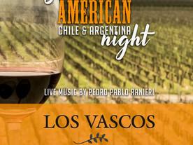 JEUDI 24 OCTOBRE 2019  SOUTH AMERICAN CHILE & ARGENTINA NIGHT