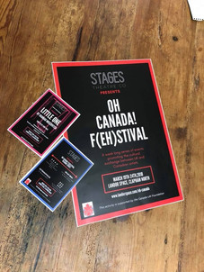 Flyers from Oh Canada! F(eh)stival