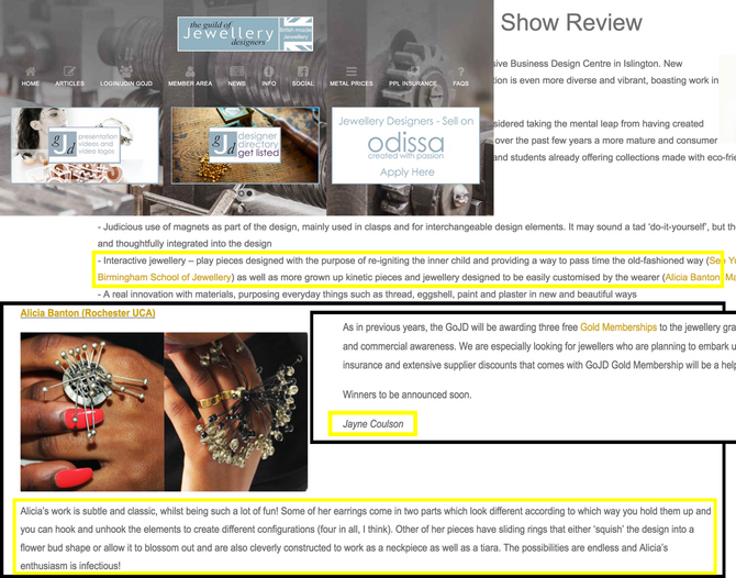 Article on Prayze Craze by The GoJD (The Guild of Jewellery designers)...