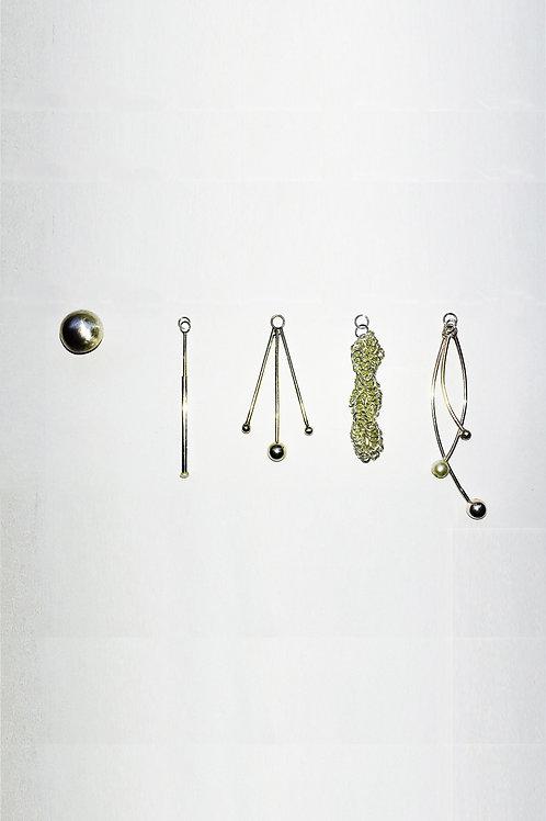 """""""FIVE"""" CHANGEABLE EARRINGS (925 SILVER/9K GOLD)"""