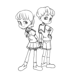Siblings sketch