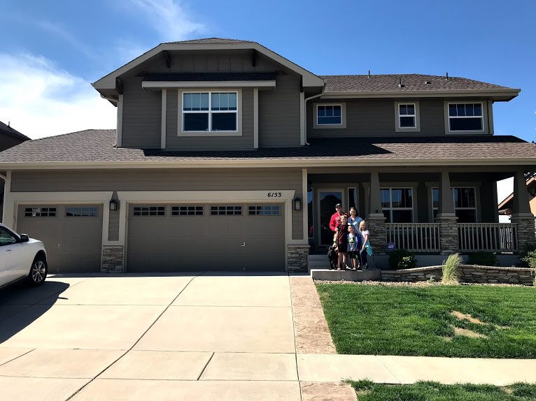 Our new house in Colorado Springs. It's a little bigger than our Boston house! ;)