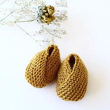 chaussons tricotés main