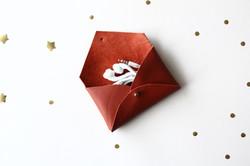 mini pochette cuir upcyclé