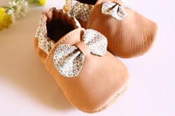 chaussons cuir bébé
