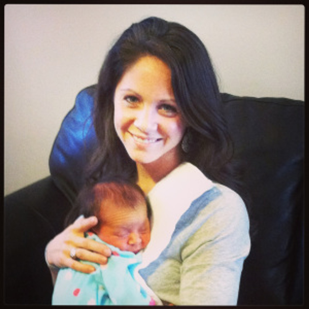 Getting to meet my new niece Molly for the first time!