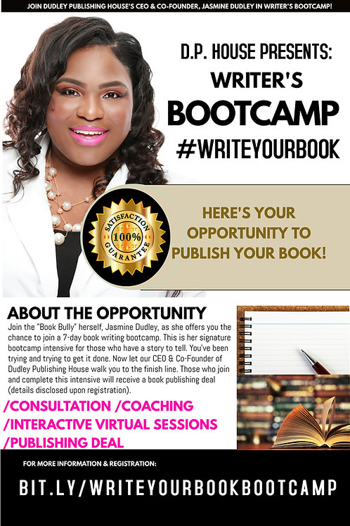 #writeyourbookbootcamp CAMP w/Publishing