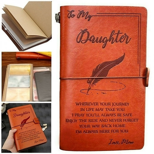 To My Daughter , Love Mom Notebook Diary