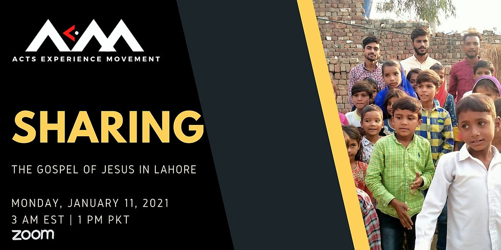 AEM Sharing the Gospel In Lahore (Zoom)
