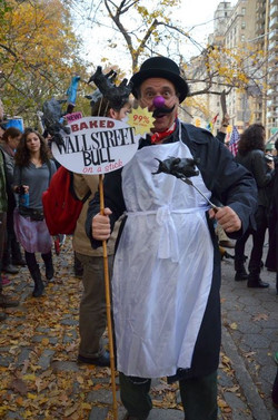 Baked Wall Street Bull on a Stick